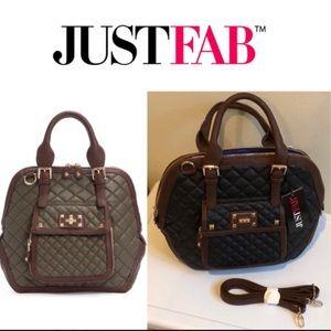 🆕 Town & Country Satchel Bag JustFab Black
